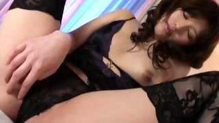 Slutty Asian redhead pleasuring two guys at once