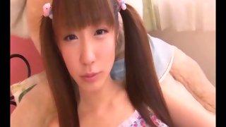 Horny Japanese slut gets her face bukkaked