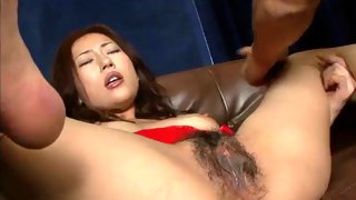 Sexy Asian girl is fingered and fucked hard