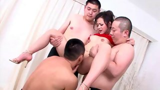 Guy eats this hot Asian girl's twat