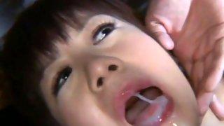 Big titted Asian amateur sucking a big dick