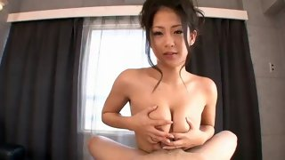 Horny Asian bitch gives a great blowjob