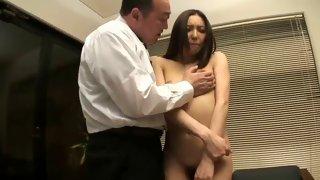 Slutty Asian bitch is teased on the sofa