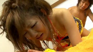 Cute Asian whore gets penetrated from behind