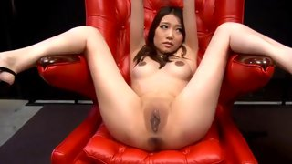 Cute Asian babe loves to tease