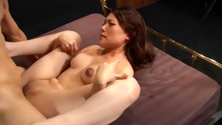 Cute Asian bitch is fucked until she squirts