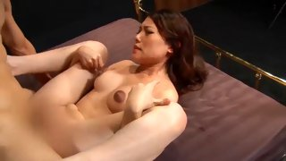 Sexy Asian bitch is fucked until she squirts