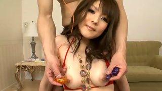 Hot Asian slut fucked hard from below