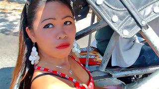 Hot Filipina bitch showing off her hot ass