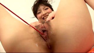 Hot Asian bitch getting her pussy teased