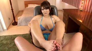 Hot Asian bitch having her tits fucked
