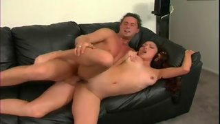 Horny Asian girl is filled with cock