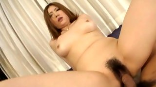 Asian bitch gets pounded in her snatch
