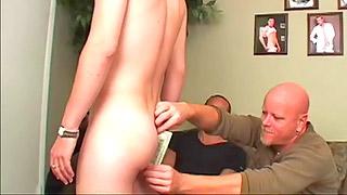 Handsome blonde got his twink ass banged hard