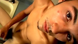 Enticing guy and older master having kinky encounter
