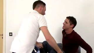 Playful hunks doing wicked things during gay odyssey