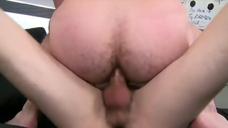 Lying college guy getting filmed while receiving oral