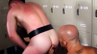 Tight cheerful guy getting pounded by gifted fella