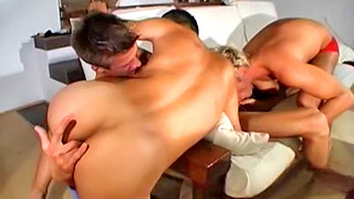 Three handsome hung stud have amazing sex together