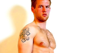 Handsome tattooed gay bloke show us his amazing body