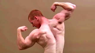 Cute ginger boy strips and wanks his huge meat rod