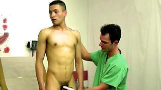 Handsome doctor slurps on his patient's hard dong