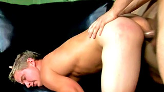 Hung gay dude rams his partner's hot butt from behind