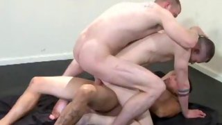Lucky guy gets to suck cock while banged