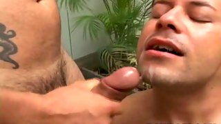 Sweet dude with hairy legs drilled from behind