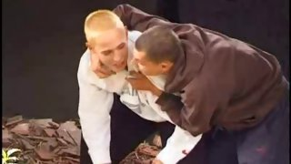 Sweet blonde twink gets kissed by his boyfriend