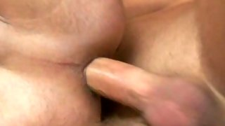 Nice skinny dude gets his ass banged on couch