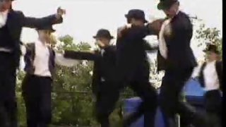 Lots of guys dancing outdoors before sex