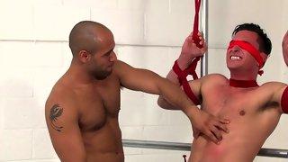 Amazing blind folded dude gets tortured