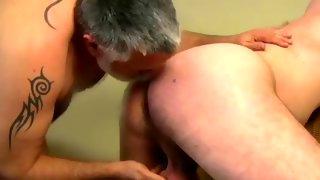 Sexy bearded guy sucks hard cock