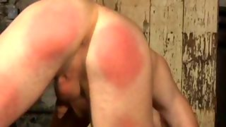 Nice naked guy gets his ass slapped hard