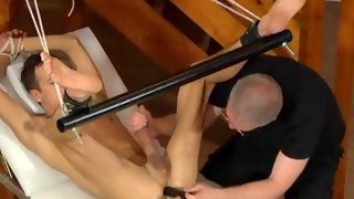 Sweet dark haired bloke gets his ass fingered