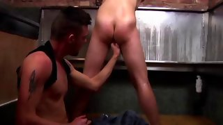Amazing buck naked dude gets his ass touched