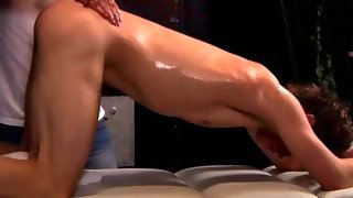 Nice oiled up dude gets his body touched