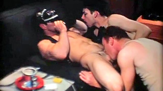 Naughty sailor blows his parnter's big hard meat pole