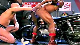 Hot black gay stud got his tight ass banged hard