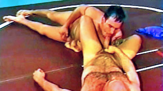 Hairy gay bloke gets his tight butt banged hard