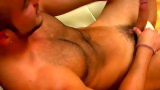 Nice bearded bloke wanks his huge dick