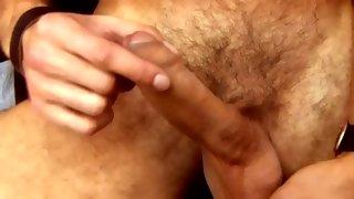 Splendid cute bloke shows his hairy ass