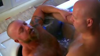 Nice naked dude gets banged in pool