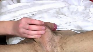 Super cute blonde dude gets his cock wanked