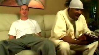 White gay man takes a big black wiener