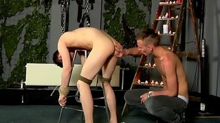 Arousing gay anal sex with two sexy guys