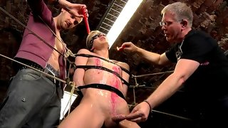 Two cocks enter Reece's sexy tight body