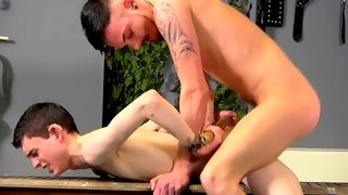 Aaron gets his butt toyed without any mercy
