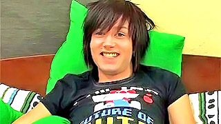 Cute emo teen boy shows us his fantastic body